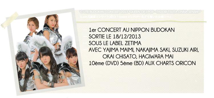 """°C-UTE BUDOKAN CONCERT 2013 """"QUEEN OF J-POP ~TADORI..."""