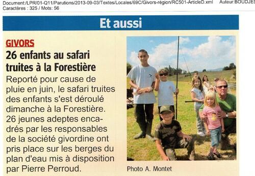 Photo Safari Truites  des Enfants