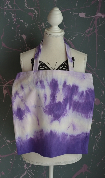 tote bag greenyy couture tie and dye violet 3