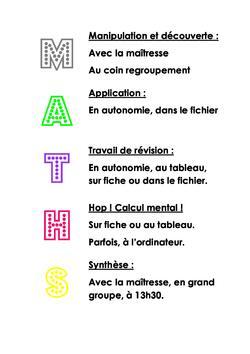 Les maths en ateliers: M. A. T. H. S.