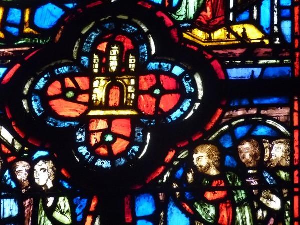 21 - Chapelle Haute (détail d'un vitrail)