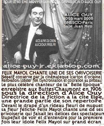 Alice Guy cinema chantant et parlant