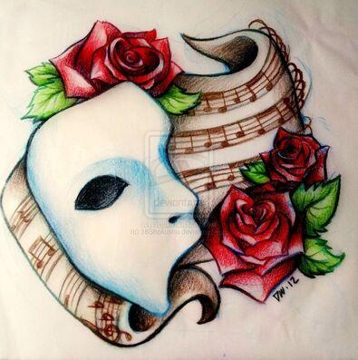 """Résultat de recherche d'images pour """"rose fantome de l'opéra"""""""