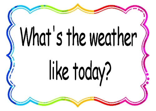 Rituel en anglais: the weather