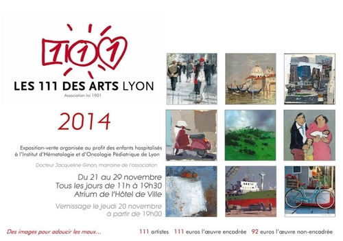 111 des Arts, une exposition à but caritatif