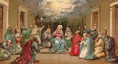 C'est aujourd'hui le jour de la Pentecôte
