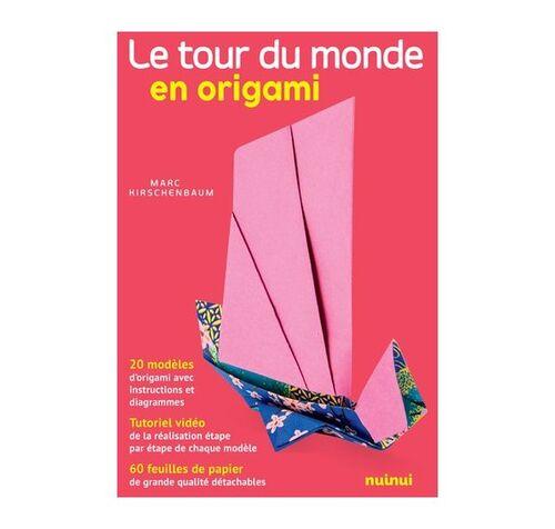 Le tour du monde en origami - 20 modèles, tutoriel vidéo et 60 feuilles de papier Nuinui (Editions)
