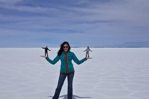 Le plus grand champ de sel au monde.