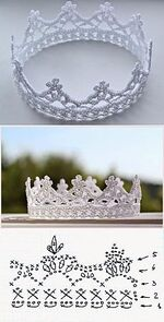 Une couronne blanche