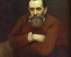 Portrait of the Artist Vasily Perov - Ivan Kramskoy