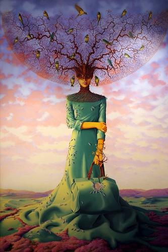 La femme et l'arbre ...