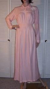 Chemise de nuit rose unie.1