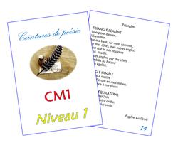 Ceintures de poésie CM1