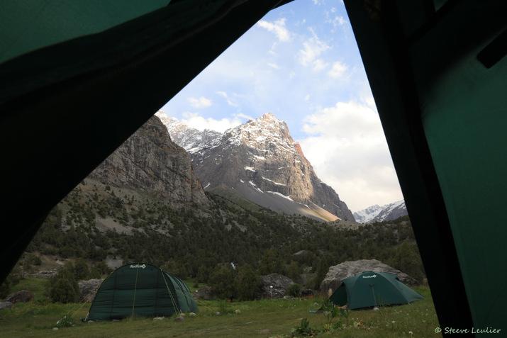 Retour vers notre campement, Tadjikistan