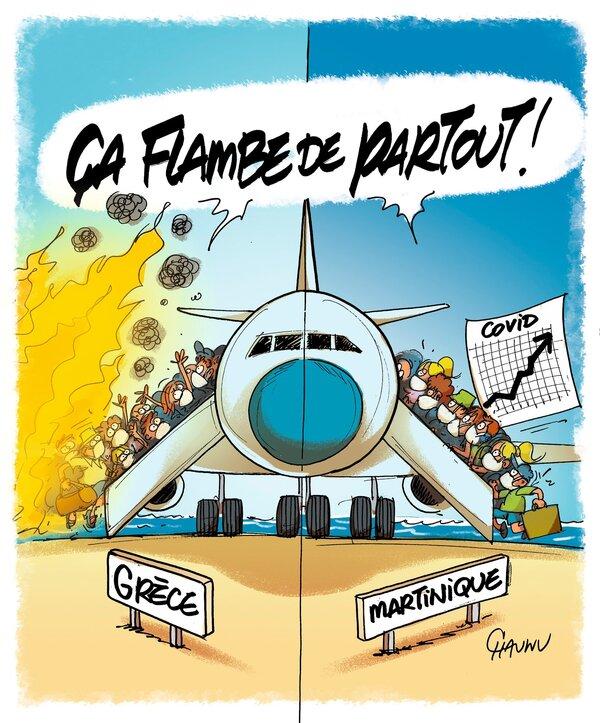 Les caricaturistes ne désarment pas au sujet des vacances, du Covid et des pass sanitaires...