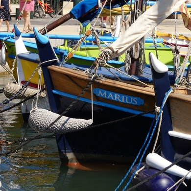 Carte postale estivale de Sanary au Castellet...