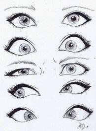 Expressions des yeux en tous genre afin que nos dessins attirent tous les regards ;):