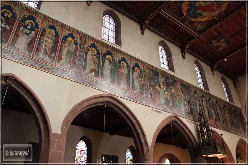 Alsace Route des Vins Saint-Hippolyte Eglise fresque Saints Apôtres