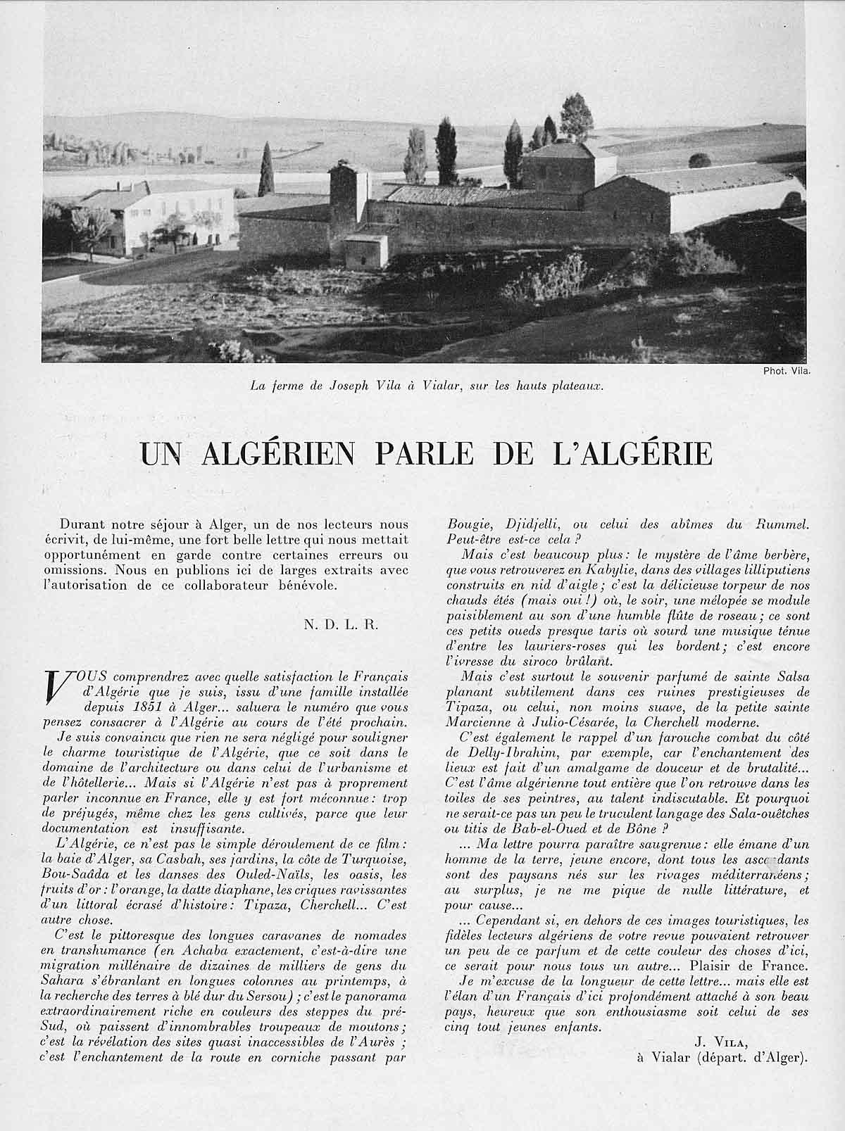 L'Algérie par J. Vila