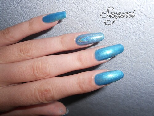 Superposition : OPI - Teal The Cows Come Home & LM Cosmetic - Silvershape