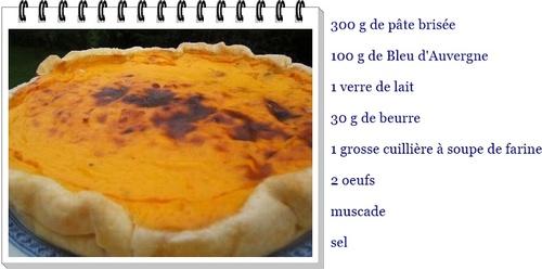 tarte au  bleu d'Auvergne