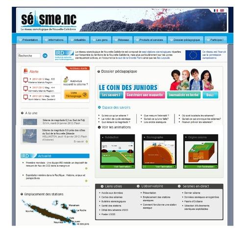 """Dernier trimestre 2011 - Dossier pédagogique du site web """"seisme.nc"""" de l'IRD"""