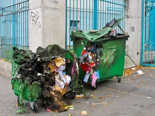 poubelle brulées Ourcq