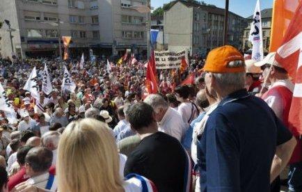 Quelque 1.500 manifestants à Hayange pour défendre la sidérurgie
