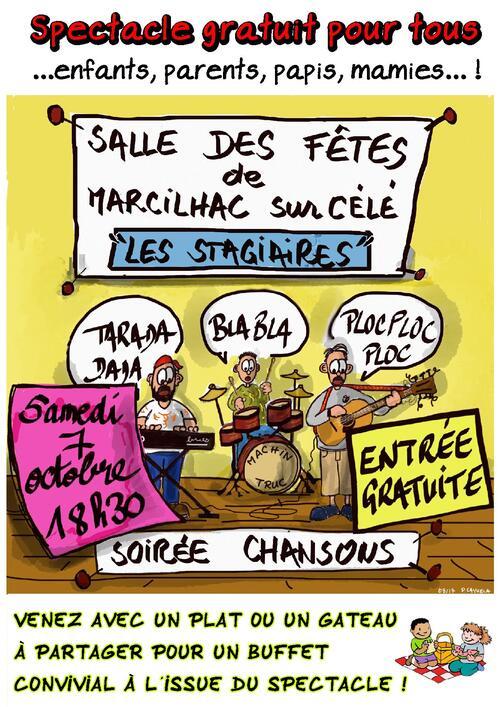 Affiche spéctacle Création de Chansons