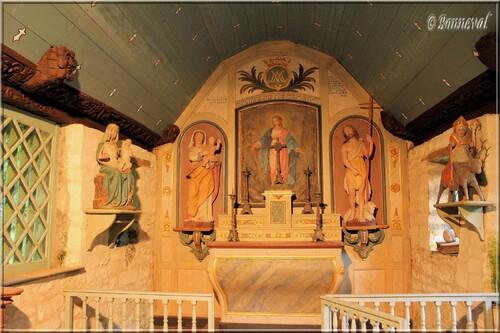 Abbaye de Daoulas Finistère Chapelle Notre-Dame des Fontaines intérieur