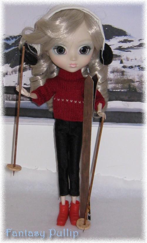 Hime fait du ski