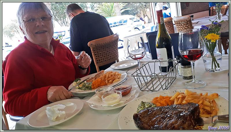 Un très bon restaurant : Ocean Blue - Camps Bay - Cape Town - Afrique du Sud