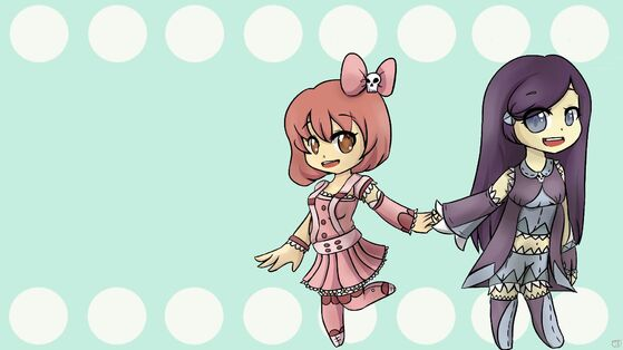 Chibis Hand In Hand