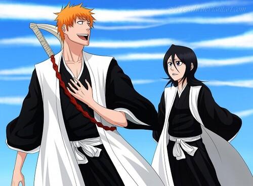 Ichigo et rukia .. le couple de capitaines
