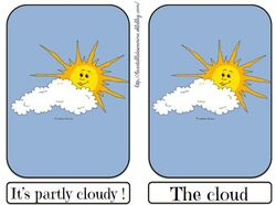 Flashcards partly cloudy