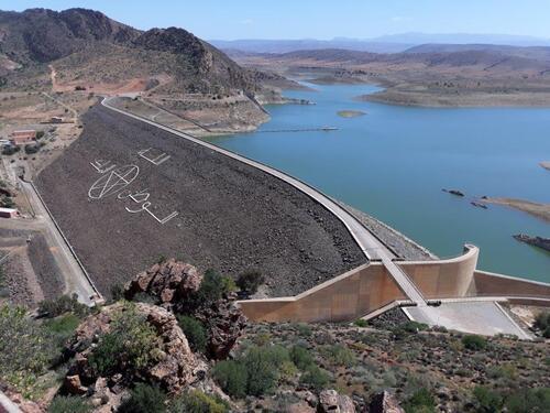 Le barrage sur lequel nous allons passer