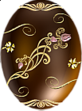 Easter Choco Egg with Gold Ornaments
