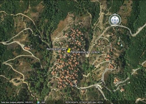 Le village de Panteleimonas près de l'Olympe