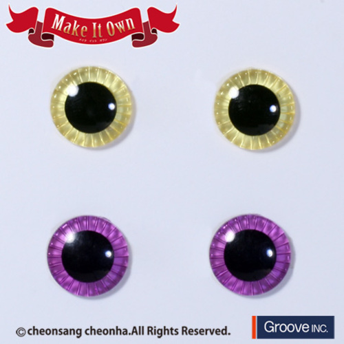 Eyechips Lemon Yellow & Red Purple