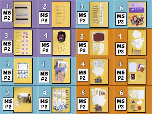Etiquettes MS Ateliers P1, P2, P3, P4, P5