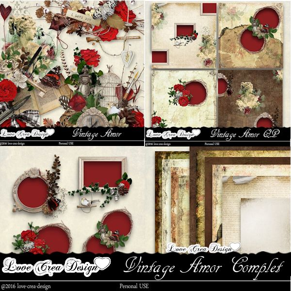 Vintage Amor by Love Créa Design
