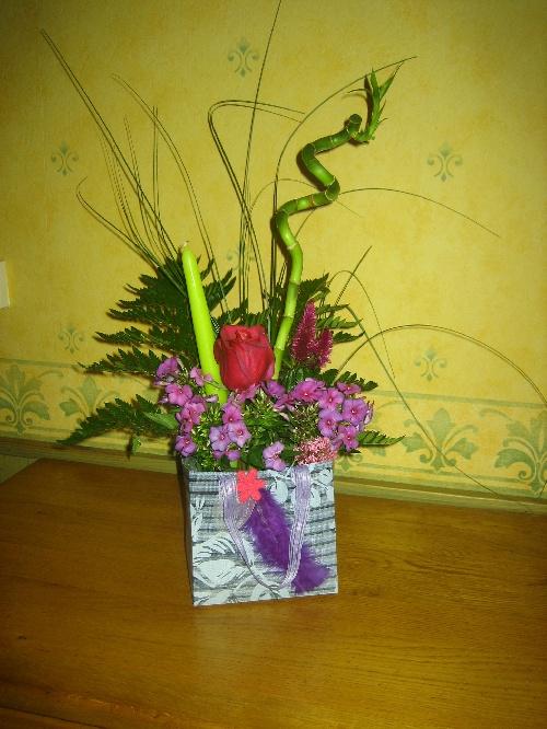 présentation de bouquet à offrir