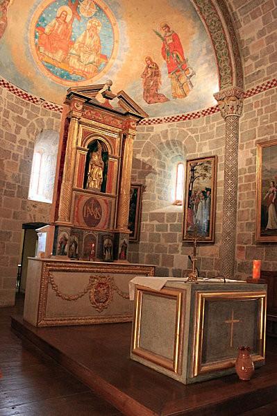 Ste Engrâce -22- l'église romane