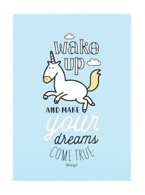 Affiche Wake Up & Make your dream come true Mr Wonderful: