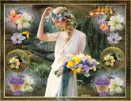 "défi Kalyona""N.1 ""Femme fleurs"""