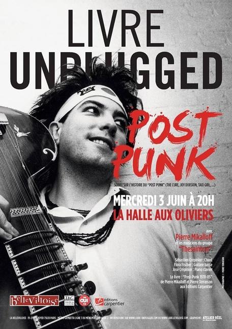 """Agenda : soirée """"Livre Unplugged"""" Post-Punk, avec Pierre Mikaïloff et Thesaintcyr, le 03 juin"""