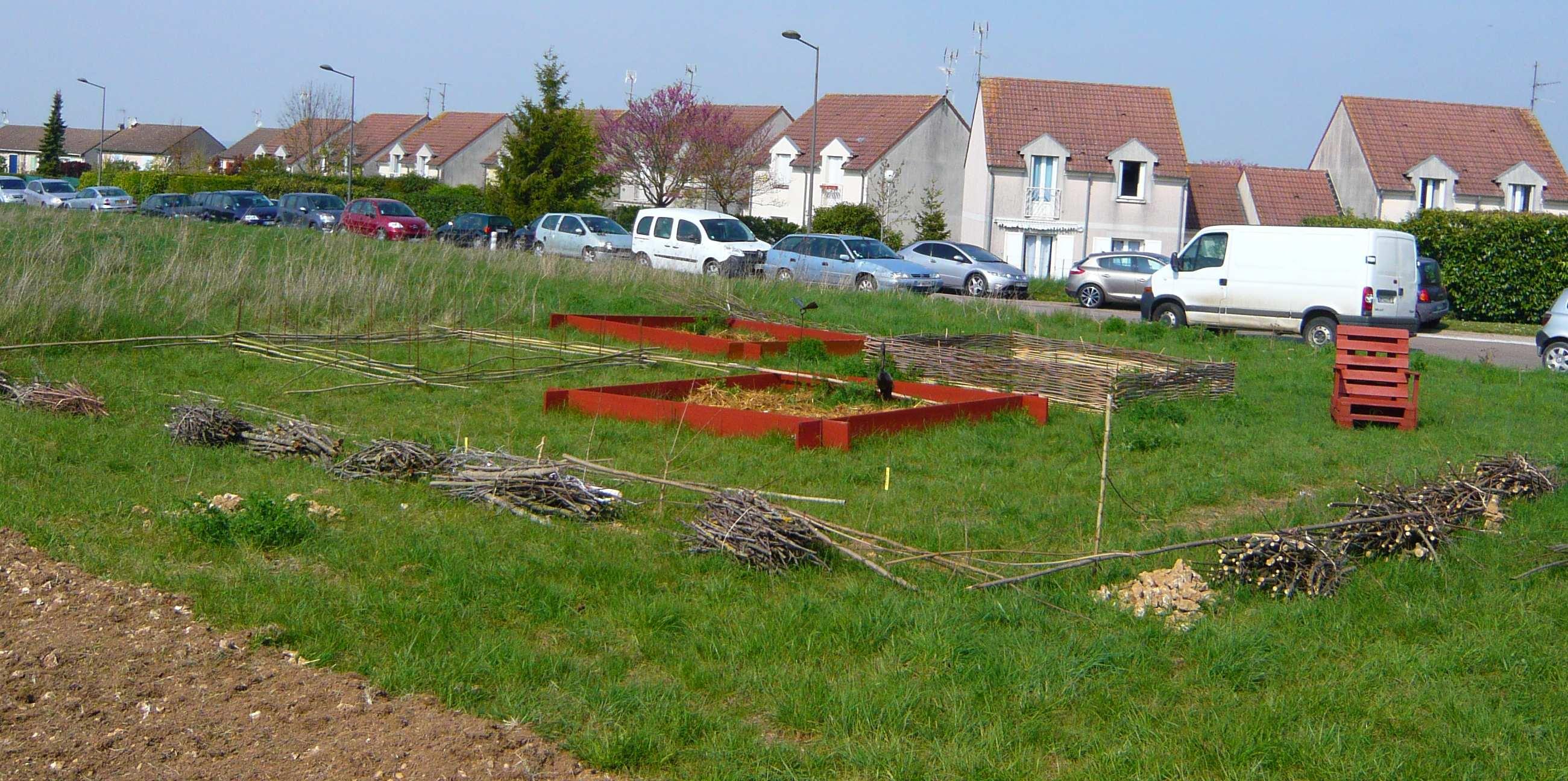 carrés à jardiner avril 2014