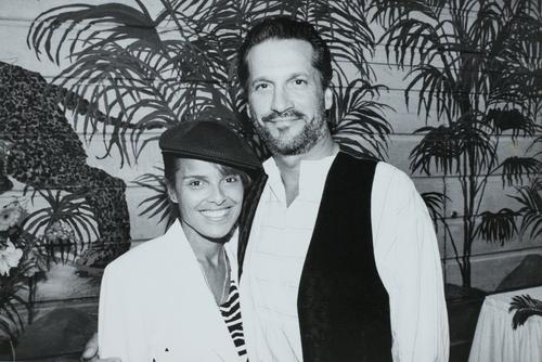 Sam Behrens et sa femme.