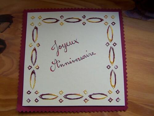 Des cartes d'anniversaire