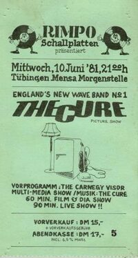 1981.06.10-The Cure-Tubingen-Mensa Morgenstelle
